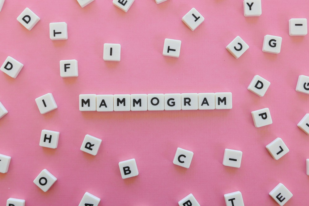letter cubes on a table spelling mammogram|Dr. Michael Mishra of Texas Radiology Associates|Breast Cancer Facts Inforgraphics|Dr. Michael Mishra of Texas Radiology Associates