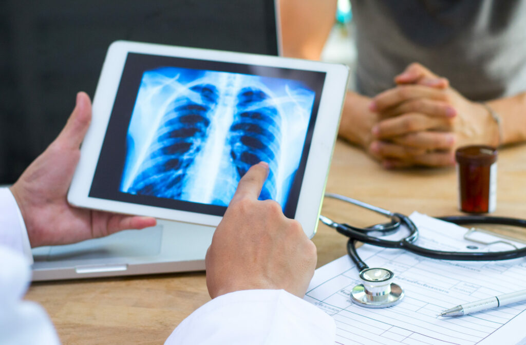 Teleradiology allows radiologists to receive images electronically. However